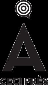 Logo noir A Ceci Près entreprise Conseil en communication, relations presse et relations publiques